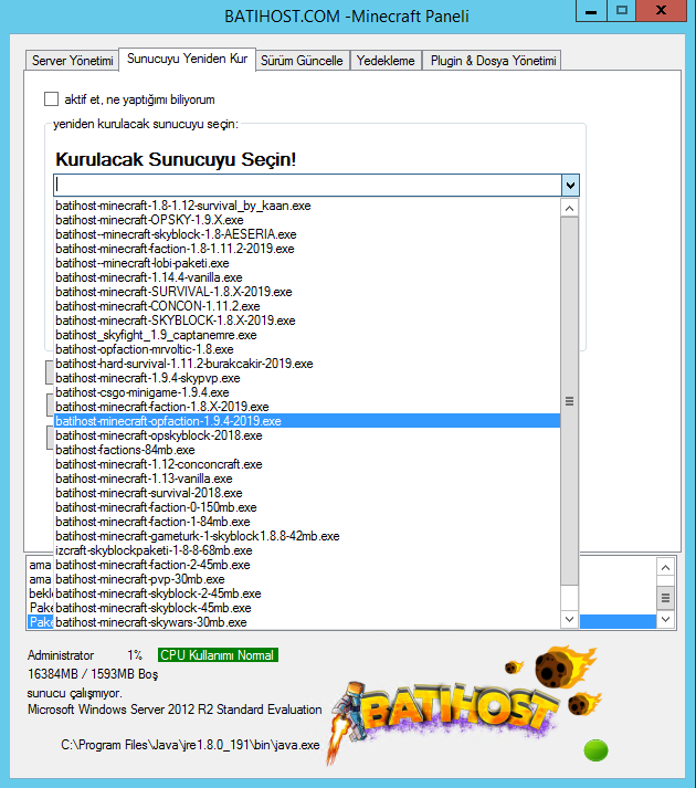 minecraft server kurmak için hızlı yol!